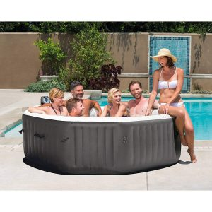 NEW 140 Bubble Jets 6-Person Octagonal Portable Inflatable Hot Tub Spa